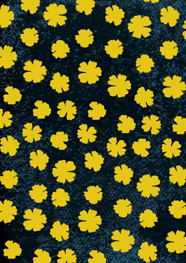 Yellow-clover-dark-sky
