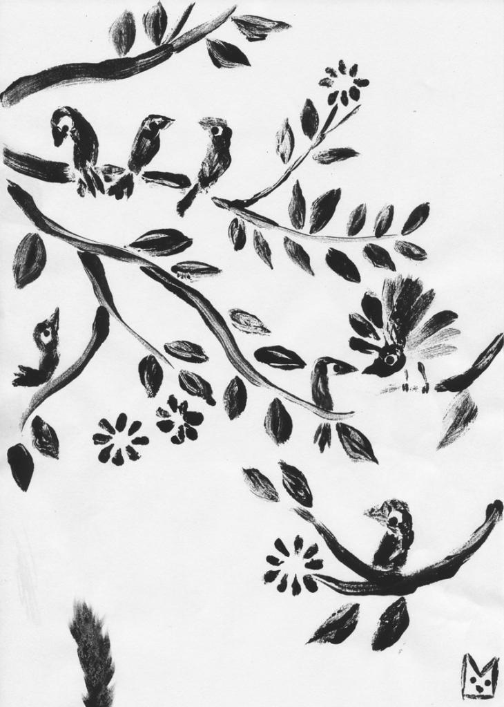 birds-monoprint
