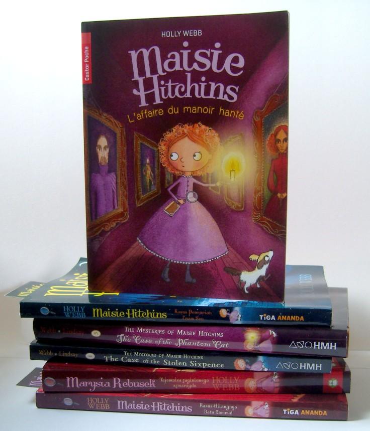 Maisie book stack