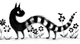 black-and-white-brushy-dragon